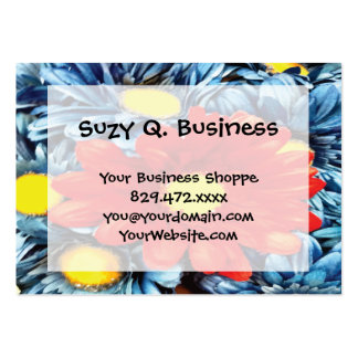 Fun Gerber Daisy Blue Orange Daisies Flower Pack Of Chubby Business Cards