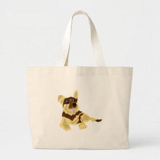 Fun German Shepherd Dog Art Jumbo Tote Bag