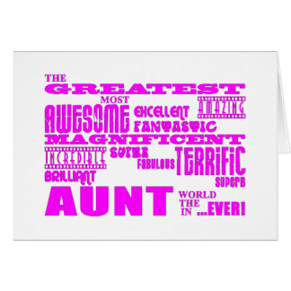 Fun Gifts for Aunts : Greatest Aunt Note Card