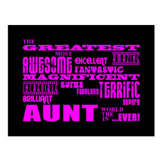 Fun Gifts for Aunts Greatest Aunt Post Cards