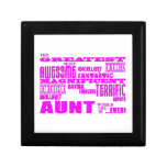 Fun Gifts for Aunts : Greatest Aunt Small Square Gift Box