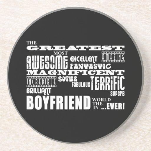 Fun Gifts for Boyfriends : Greatest Boyfriend Beverage Coaster