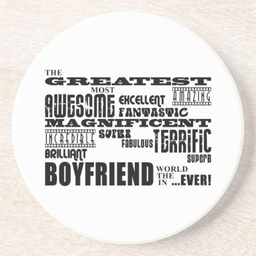 Fun Gifts for Boyfriends : Greatest Boyfriend Drink Coasters
