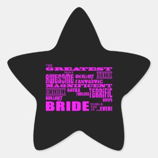 Fun Gifts for Brides Greatest Bride Star Sticker
