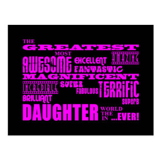Fun Gifts for Daughters : Greatest Daughter Postcard