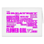 Fun Gifts for Flower Girls : Greatest Flower Girl Card