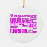 Fun Gifts for Flower Girls : Greatest Flower Girl Christmas Ornament