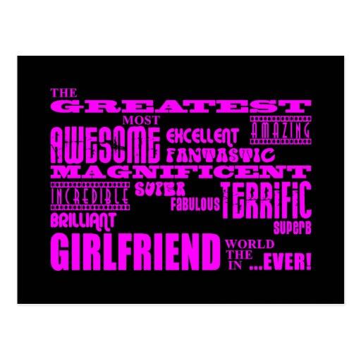 Fun Gifts for Girlfriends : Greatest Girlfriend Postcard