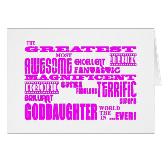 Fun Gifts for Goddaughters : Greatest Goddaughter Note Card