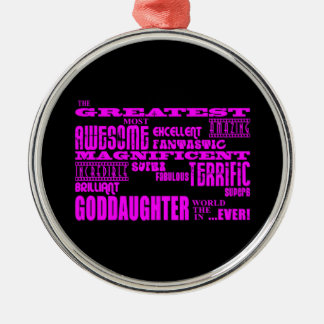 Fun Gifts for Goddaughters : Greatest Goddaughter Christmas Ornament