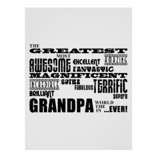 Fun Gifts for Grandfathers Greatest Grandpa Print