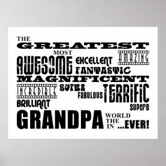 Fun Gifts for Grandfathers Greatest Grandpa Print