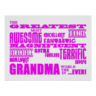 Fun Gifts for Grandmothers : Greatest Grandma Poster