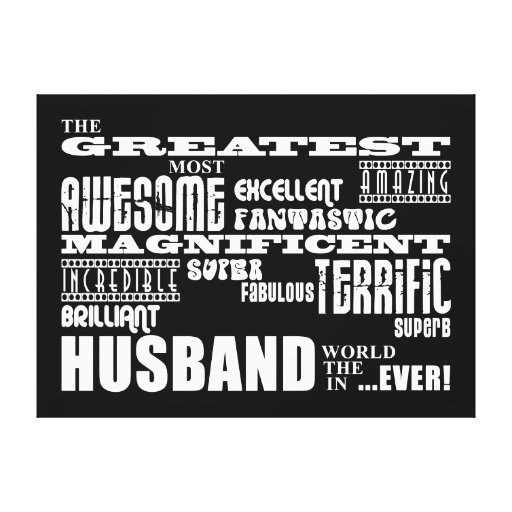 Fun Gifts for Husbands : Greatest Husband Gallery Wrap Canvas
