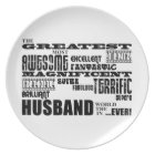 Fun Gifts for Husbands : Greatest Husband Plate