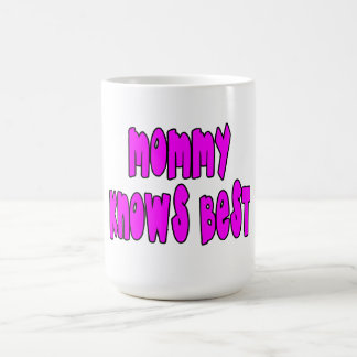 Fun Gifts for Moms : Mommy Knows Best Basic White Mug