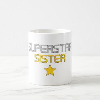 Fun Gifts for Sisters Super Star Sister Coffee Mug