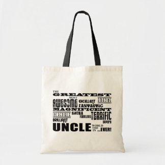 Fun Gifts for Uncles : Greatest Uncle Canvas Bags