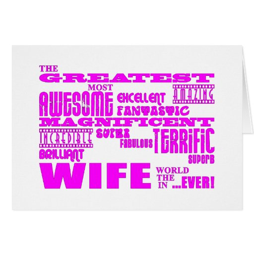 Fun Gifts for Wives : Greatest Wife Greeting Card
