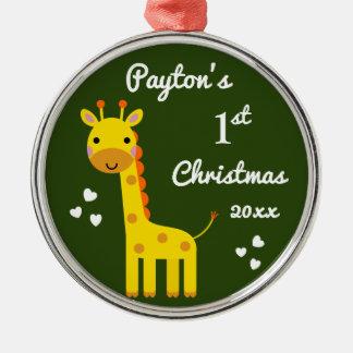 Fun Giraffe Baby's 1st First Christmas Gift Christmas Ornament