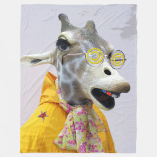 Fun Giraffe Fleece Blanket!