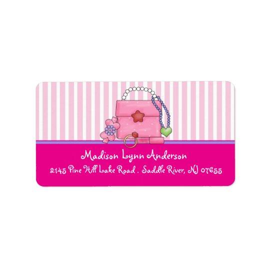 Fun Girl Purse Return Address Labels. Address Label