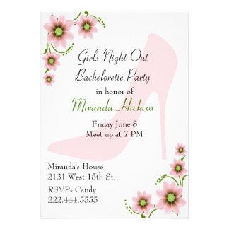 Fun Girl's Night Our Bachelorette Party Invitation