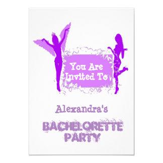 Fun girls personalized bachelorette party 13 cm x 18 cm invitation card