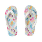 fun girls unicorn fantasy flip flops