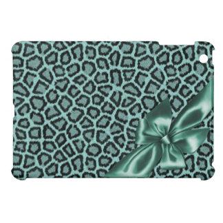Fun Girly Aqua Leopard iPad Mini Cases