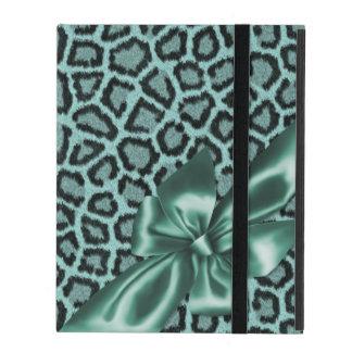 Fun Girly Aqua Leopard Print Cases For iPad