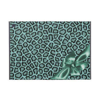 Fun Girly Aqua Leopard Print iPad Mini Case