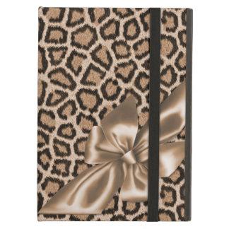 Fun Girly Brown Leopard Print iPad Folio Cases