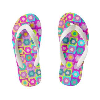 Fun girly floral patterned flip flops