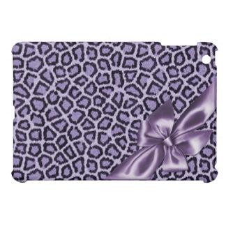 Fun Girly Purple Leopard iPad Mini Case