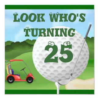Fun Golf  25th Birthday Invitations
