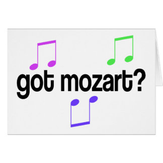 Fun Got Mozart Music Gift Greeting Card