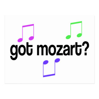 Fun Got Mozart Music Gift Postcard