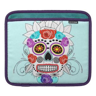 Fun Goth Sugar Skull and Roses Design iPad Sleeve