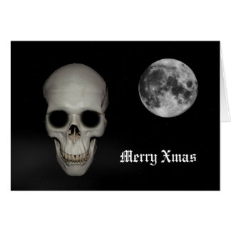 Fun gothic skull Christmas Greeting Card