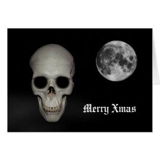 Fun gothic skull Christmas Greeting Card