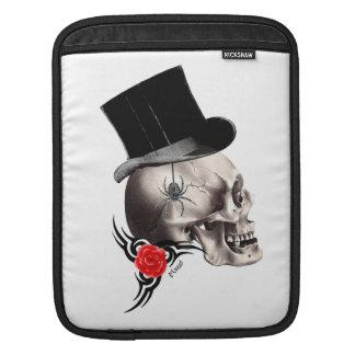 Fun Gothic skull  tattoo style iPad Sleeve