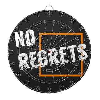 "Fun Graphic Quote ""No Regrets"" Typography Text Dartboard"