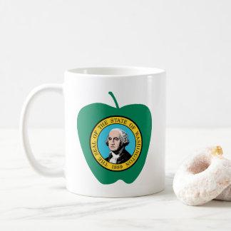 Fun Green Apple Washington State Flag Coffee Mug
