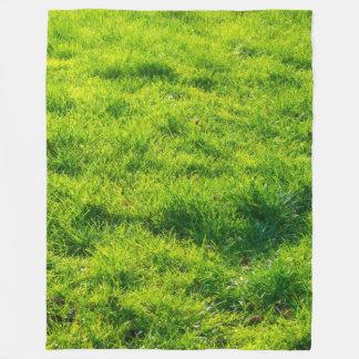 Fun Green Grass Print Fleece Blanket