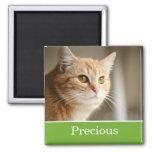 Fun Green Personalised Pet Photo Magnet