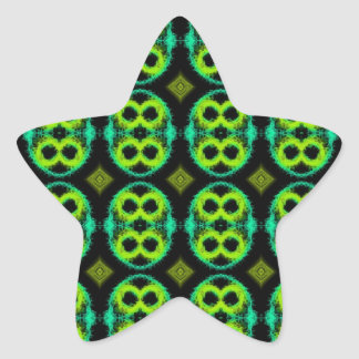 Fun Green Plaid Sticker