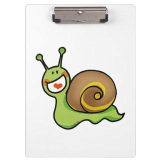 fun green snail clipboard