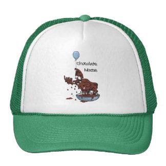 Fun Green Trucker Hat, Chocolate Moose Cap