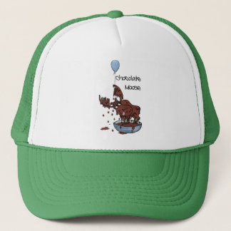 Fun Green Trucker Hat, Chocolate Moose Trucker Hat